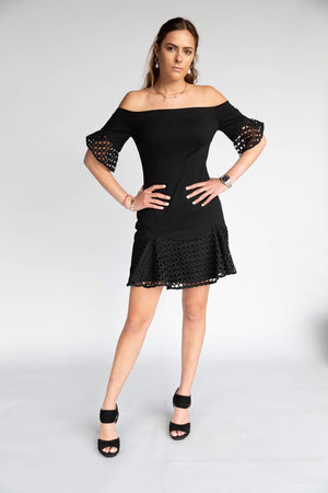 Elliatt Carnellian Black Dress
