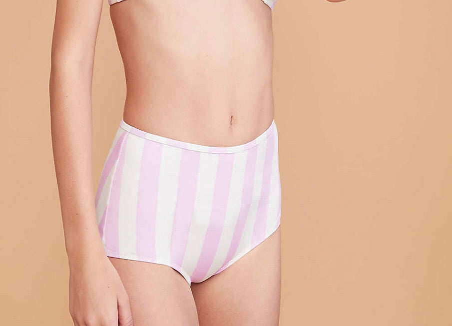 Solid And Striped Kiki Baby Pink Bikini