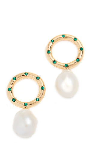 Lizzie Fortunato SeaSide Pearl Earrings