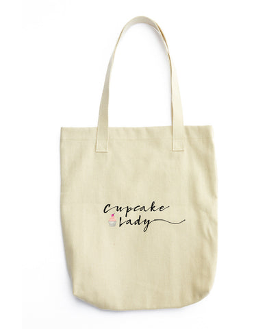 Cupcake Lady Tote Bag