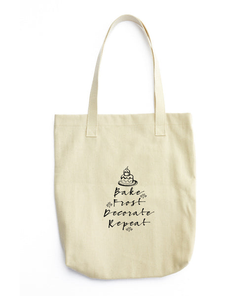 Bake, Frost, Decorate, Repeat Tote Bag