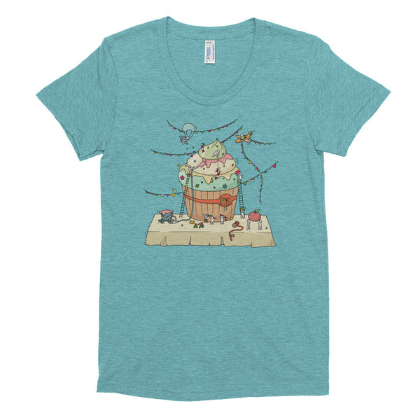 Holiday Cupcake Construction Women's Tee