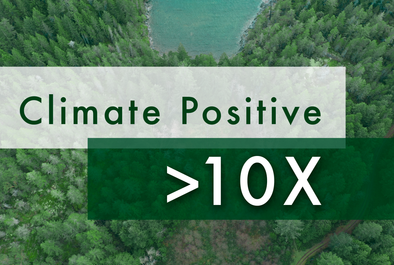 Our >10X Commitment to Being Climate Positive