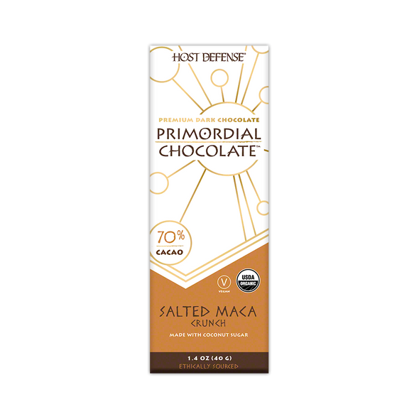 Primordial Chocolate™ - Salted Maca Crunch - Host Defense Mushrooms