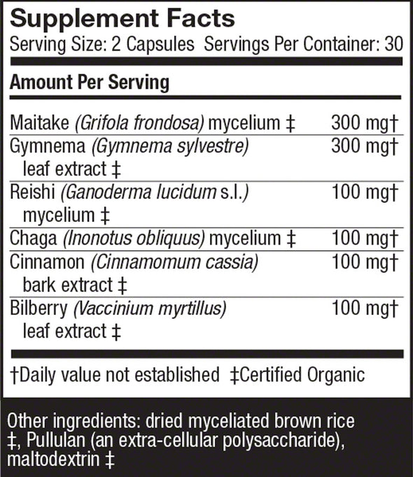 MycoBotanicals® Blood Sugar Capsules - Host Defense Mushrooms