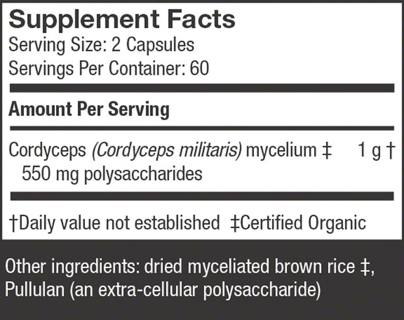 Cordyceps Capsules - Host Defense Mushrooms