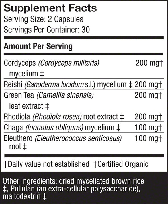 MycoBotanicals® Energy Capsules - Host Defense Mushrooms