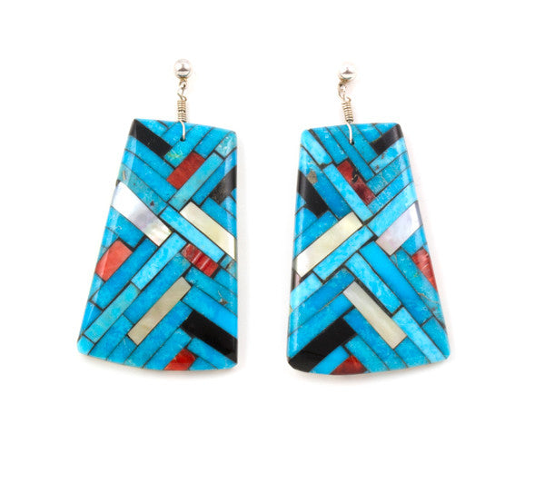 Turquoise Inlaid Earrings