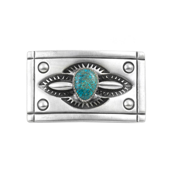 Lone Mountain Turquoise Buckle
