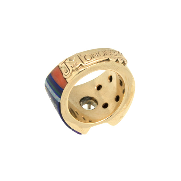 Gold Inlaid Diamond Ring