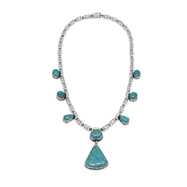 Sterling Silver Kingman Turquoise Necklace
