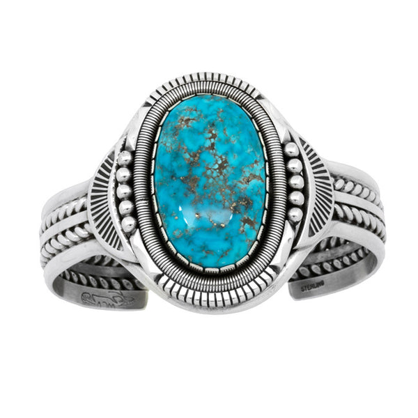 Silver Morenci Turquoise Bracelet