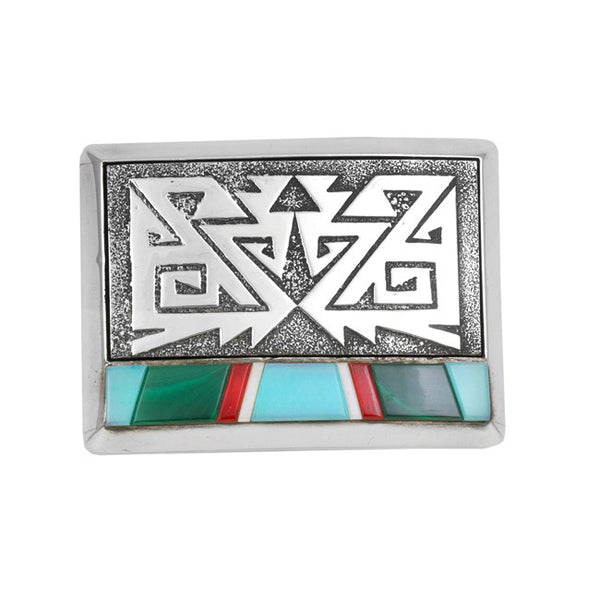 Sterling Silver Inlaid Buckle