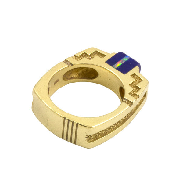 18k Gold Inlaid Ring