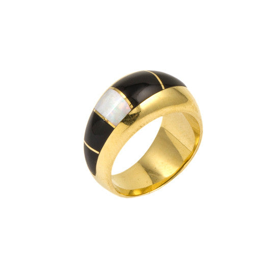 14k Gold Inlaid Ring