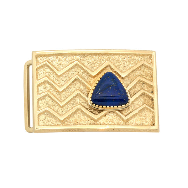 14k Gold Lapis Buckle