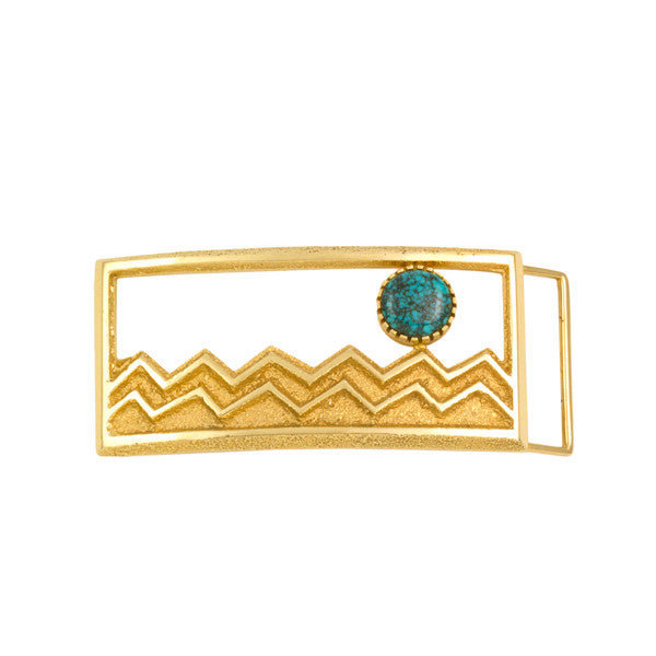 14k Gold Lone Mountain Buckle