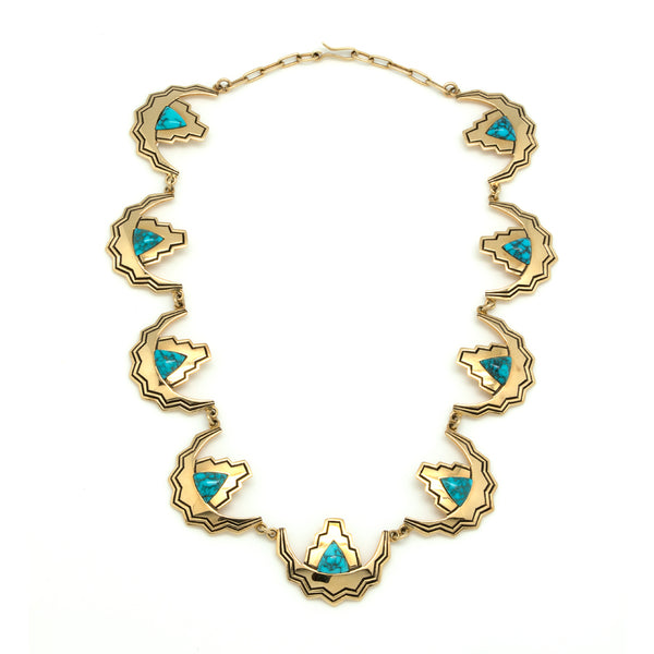 14k Gold Lone Mountain Necklace
