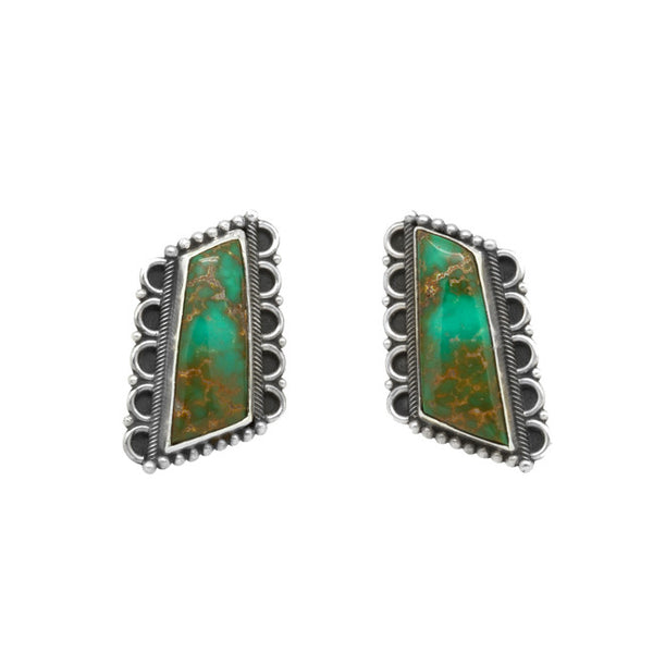 Silver Royston Turquoise Earrings