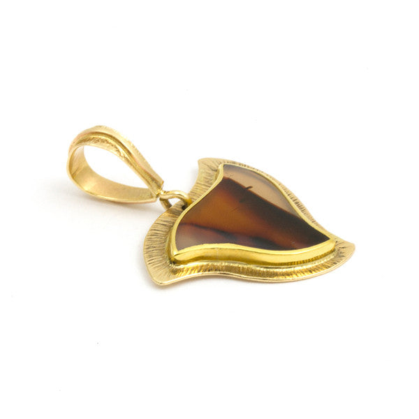 14k Gold Agate Necklace