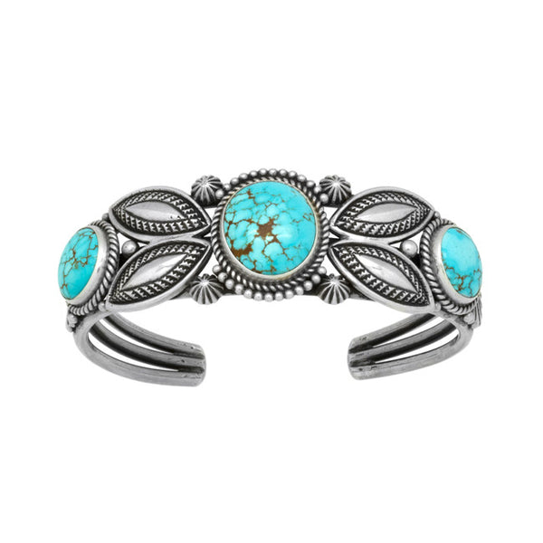 Silver #8 Turquoise Bracelet