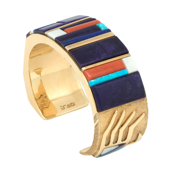 18k Gold Inlaid Bracelet