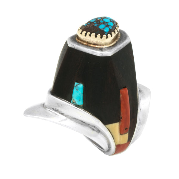 Sterling Silver Inlaid Height Ring