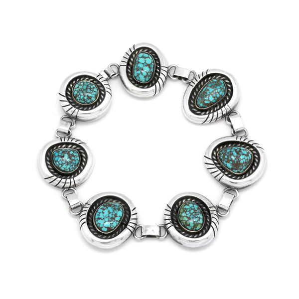 Stelring Silver #8 Turquoise Bracelet