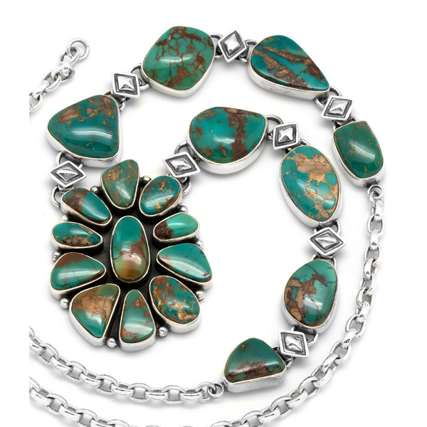 Silver Royston Turquoise Necklace