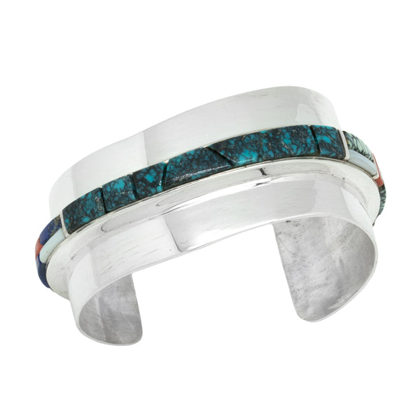 Sterling Silver Inlaid Bracelet