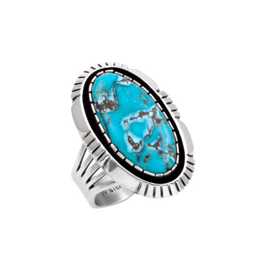 Silver Candelaria Turquoise Ring