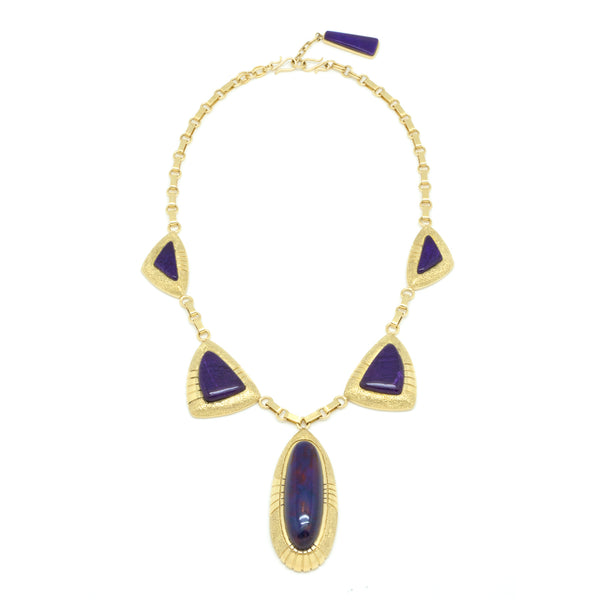18k Gold Sugilite Necklace