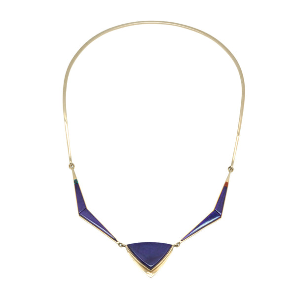 14k Gold Inlay Sugilite Necklace