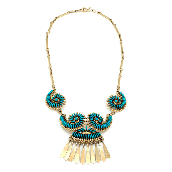 14k Gold Turquoise Necklace
