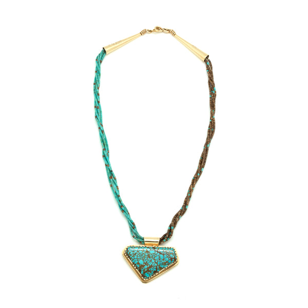 14k Gold Heishi Necklace