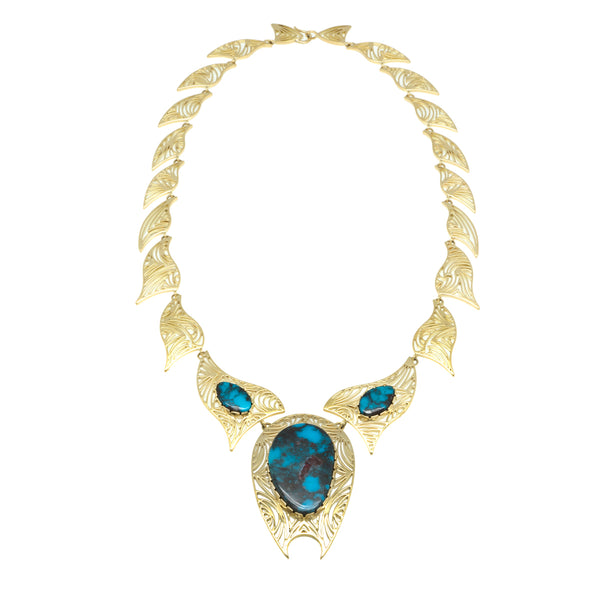 18k Gold Gem Quality Bisbee Necklace