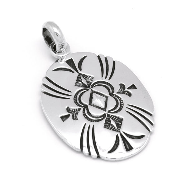 Sterling Silver Stamped Pendant
