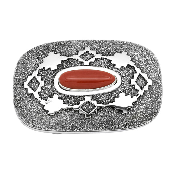 Sterling Silver Coral Buckle