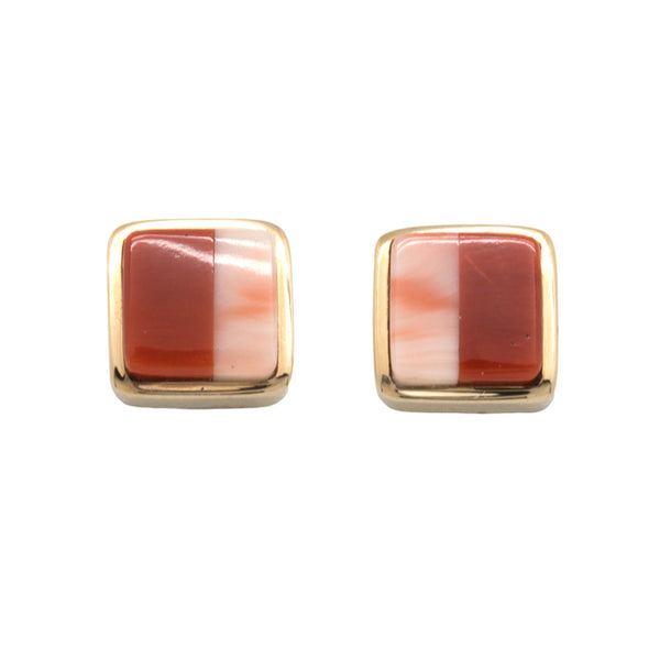 18k Gold Coral Earrings