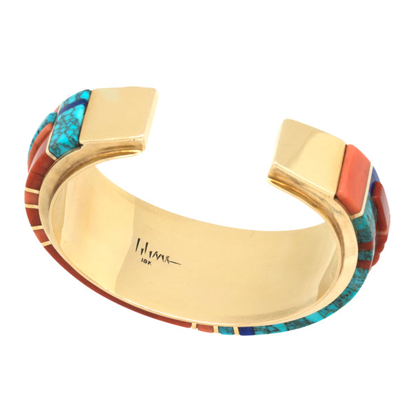 18k Gold Kachina Mask Bracelet