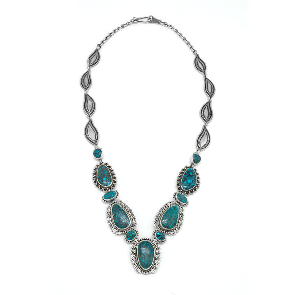 Silver Lone Mountain Turquoise Necklace