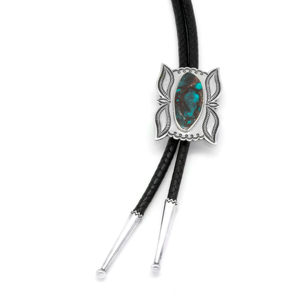 Silver Bisbee Turquoise Bolo