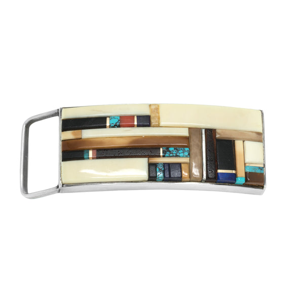 Sterling Silver Inlay Buckle