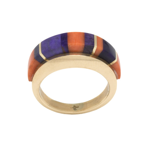 14k Gold Inlay Ring