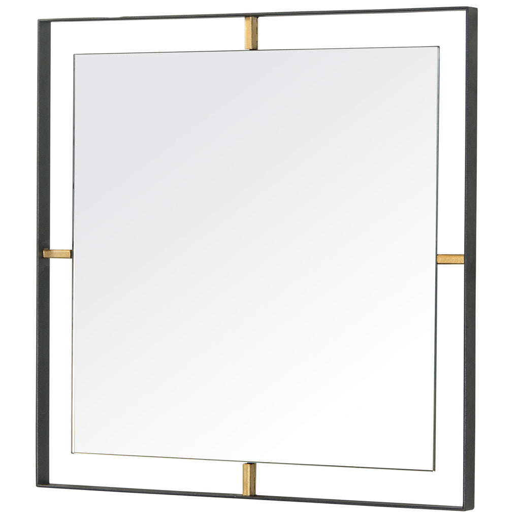Framed 610020 20x20-In Square Wall Mirror -Black w/ Antique Gold ...
