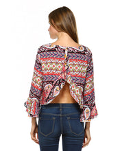 Bohemian Printed Crop Top