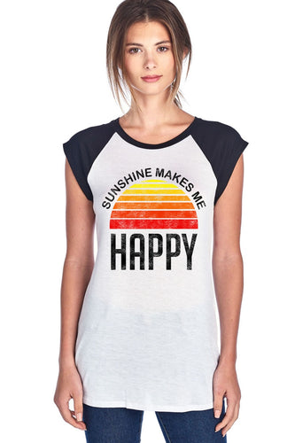 Sunshine Makes Me Happy Tee