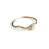 Sea Spray opal ring - Guld