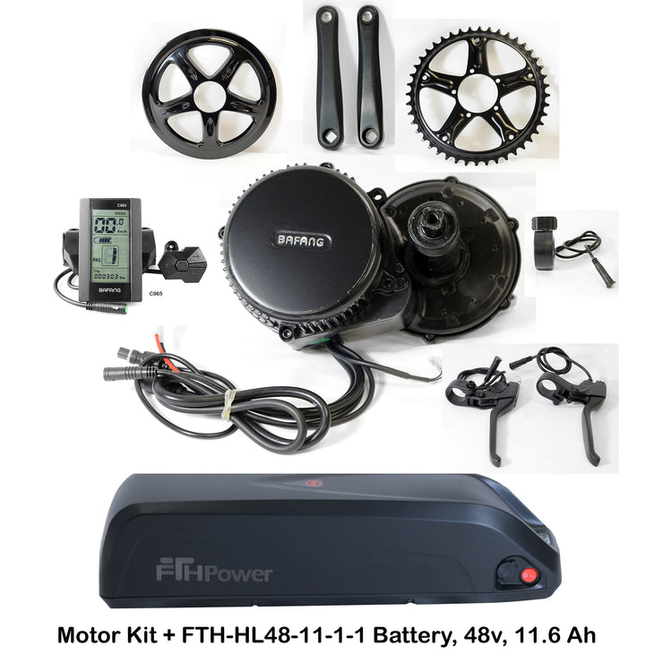 Bafang 750W Mid Drive Motor Kit (BBS02) with Optional Battery