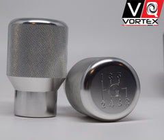 "G Shift Knob - VQ Vortex Weighted Aluminum Shift Knob -Silver- (""G"" Logo)"